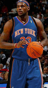lebron as a Knick