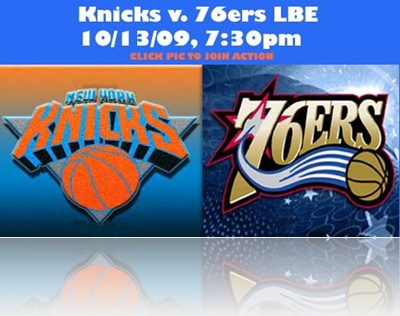 Knicks v 76ers LBE PIc